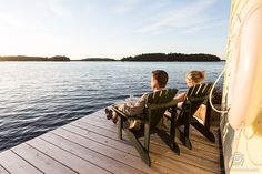 Watching the sunset over Lake Muskoka on your wedding day- Priceless