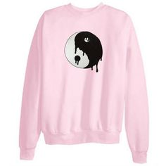 Tumblr Transparent Dripping Ying-Yang Sweatshirts (28 CAD) ❤ liked on Polyvore featuring tops, hoodies, sweatshirts, sweaters, shirts, sheer top, pink sheer shirt, sheer shirt, sweat shirts and sweatshirts hoodies