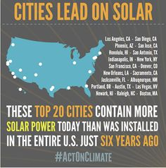 These cities are pushing solar energy into the mainstream. Get FREE solar quote at http://www.solarbuddy.com/