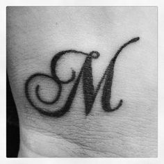 "I would love this behind my ear, but have the letter ""N"" for my maiden name."