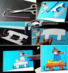 Winter collage with straws Winter Activities For Kids, Winter Kids, Christmas Crafts For Kids, Sport Themed Crafts, Theme Sport, Material Didático, Baby Quiet Book, New Year's Crafts, Sport Craft