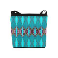 light blue pattern-annabellerockz-shoulder sling bag Shoulder Sling Bag