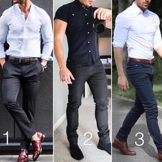 """3,408 Likes, 129 Comments - The Stylish Man (@stylishmanmag) on Instagram: """"Options from @modernmencasualstyle ✨✨ 1️⃣, 2️⃣ or 3️⃣? """""""