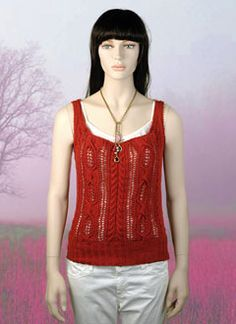 A cute knitted tank.