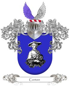 Coetzee - Coat of arms - Familie wapen Coat Of Arms, Genealogy, Memories, History, Disney Characters, Art, Souvenirs, Family Crest, Kunst