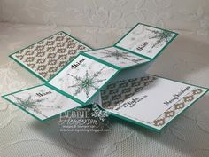 Twist Pop Up Card Fold using Stampin' Up Star Of Light - YouTube