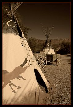 Teepee & Wagon, via Flickr.