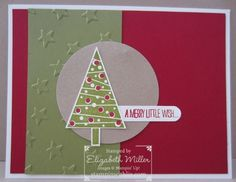 Stampin Up Festival of Trees Christmas card idea