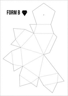 Papierdiamanten GRATIS Vorlage bei minimalistmuss.com
