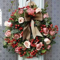 a most gorgeous christmas wreath...  (wow this is the most gorgeous christimas wreath...)-candy coll