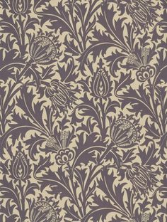 Thistle,+a+feature+wallpaper+from+Morris+and+Co,+featured+in+the+Morris+V+collection.