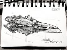 Shiptember Bonus 25 by Jeff Zugale on ArtStation. Spaceship Concept, Concept Ships, Concept Art, Cyberpunk, Ship Of The Line, Chicken Scratch, Robot Design, Cool Sketches, Space Crafts