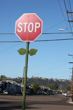 Stop Sign Flower