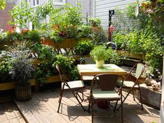Un jardin à Brooklyn- I love when someone makes the most of what they have available!