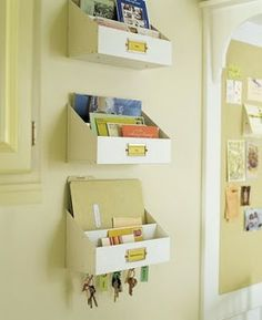 A bowl full of lemons.: Day ~ Getting Organized Challenge (The mail station) Home Office Organization, Organization Hacks, Ideas Para Organizar, Ideas Geniales, Wall Spaces, Getting Organized, Home Projects, Sweet Home, House Design