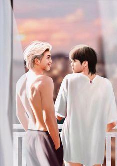 Namjin, Jikook, Yoonmin Fanart, Vkook Fanart, Kpop Couples, Cute Gay Couples, Seokjin, Bts Chibi, Bts Fans