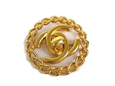 #CHANEL COCO Broach Metal Gold Colored (BF071547). Authenticity guaranteed, free shipping worldwide & 14 days return policy. Shop more #preloved brand items at #eLADY: http://global.elady.com