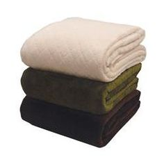 Quilted Mink And Sherpa Fleece Throw  in Green, $29.99