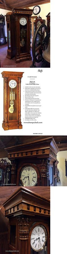 Grandfather Clocks 20559 Sligh Carthage Oak Grandfather Clock 932 2 Ab Brand New
