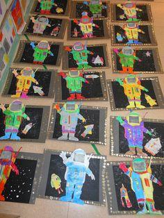 Els astronautes viatgen per l'espai Space Classroom, Classroom Themes, Astronaut Craft, Transportation Crafts, Solar System Crafts, Kindergarten Themes, Jr Art, Earth From Space, Space Theme