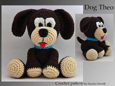 crochet pattern, amigurumi,  dog  - pdf, English or German on Etsy, $5.00