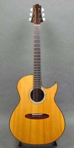 2002 Taku Sakashta SD Acoustic Guitar Cutaway: German Spruce Top, Brazilian Rosewood Back & Sides. Guitar Collection, Acoustic Guitars, Gospel Music, Vintage Guitars, Cool Guitar, Ukulele, Musical Instruments, Classical Guitars, Husband