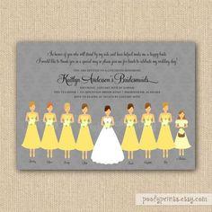 Personalizada con los nombres de tus amigas, el colores de los vestido y el cabello.