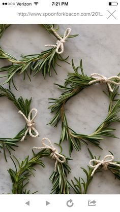 Rosemary wreathes
