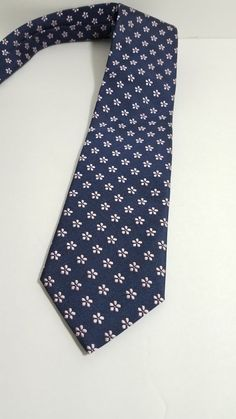e50977555262 FUMAGALLI 1891 MILANO Navy Blue Purple Flowers Silk Tie Handmade in Italy  NWT #Fumagalli #