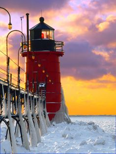 South Haven Lighthouse (Michigan) by Christopher Kierkus