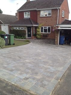 Block driveway laid in Hartley Wintney using Marshalls Tegula blocks, Pennant Grey. Contact us for a free, no obligation quotation. Driveway Paving, Driveway Design, Driveway Gate, Driveway Ideas, Block Paving, House Front, Front Porch, Well Thought Out, Houses