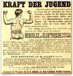 Original-Werbung/Anzeige 1906 - HERCULEX - DER ELEKTRISCHE GÜRTEL DES DR. SANDEN / PARIS  -ca. 120 x 125 mm