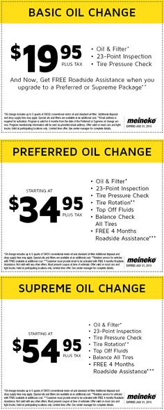 Meineke Oil Change >> Pinned July 5th 20 Oil Change More At Meineke Coupon Via The