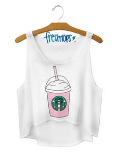Fresh Top Starbucks crop-top