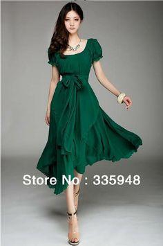 fashion  chiffon dress, soft, Vintage Ladies $8.50