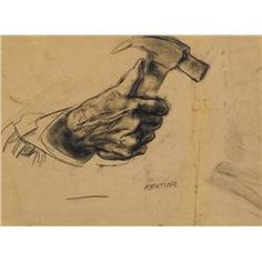 Seán Keating RHA HRA HRSA (1889-1977) - HAND HOLDING A HAMMER (STUDY FOR ARD NA… Hand Holding, Holding Hands, Hold On, Art Ideas, Study, Drawings, Artist, Artwork, Image