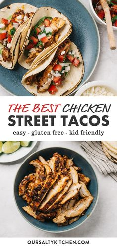 Oven Baked Chicken Thighs, Chicken Thigh Recipes Oven, Chicken Taco Recipes, Mexican Food Recipes, Dinner Recipes, Oven Chicken, Taco Chicken, Chicken For Tacos, Street Tacos Recipe Chicken