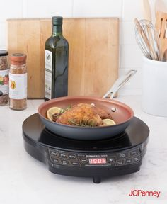 Tap to shop! // The hot plate makes the ideal companion for dorms, on a terrace, while camping or as an addition to your existing hot plates. NuWave's Precision Induction Flex cooktop offers precise temperature control with the simple press of a button, as well as a 9-inch hard-anodized nonstick fry pan for even heat and fast cooking times.