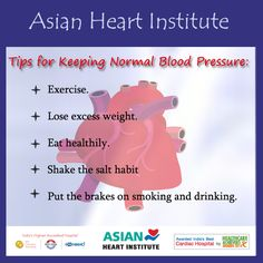 #Tips for Keeping Normal #Blood Pressure From #AHI