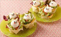 サクサクカップのイースターネストサラダ画像