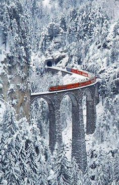 Science Discover Very cool winter train ride on the Landwasser Viaduct Graubünden Switzerland. Top Places To Travel Places To See Places Around The World Around The Worlds Winter Szenen Winter Time Italy Winter Winter Travel Winter Season Top Places To Travel, Places To See, Places Around The World, Around The Worlds, Winter Szenen, Winter Time, Winter Travel, Winter Season, Italy Winter