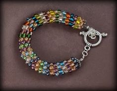 crochet bead bracelet--cute, but looks too complicated for me