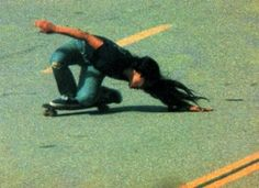 Peggy Oki, the only female member of the legendary Zephyr skating team.