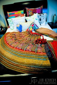 Look at all the handiwork on this gorgeous lengha skirt!