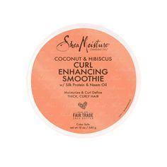 SheaMoisture Coconut And Hibiscus Curl Enhancing Smoothie - 12oz : Target Curl Enhancing Smoothie, Hair Fair, African Black Soap, Frizz Control, Neem Oil, Moisturize Hair, Twist Outs, Smooth Hair, Hair Conditioner