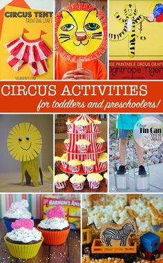 The circus is coming to town this week with some wonderful ideas to help you create a Circus themed Tot School for your child. I've rounded up some of the best fine and gross motor skills activities and crafts I could find. And as usual I've thrown in some links to Circus themed printables, books and yummy snacks so you have everything you need for a Circus Tot School for your toddler or preschooler.
