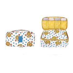 Multifunction Underwear Organiser - Yellow Smile - KORENKAB