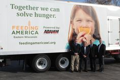 We are very proud to be a part of the Automobile Dealers Association Of Mega Milwaukee (ADAMM) and to support Feeding America Eastern Wisconsin. Pictured 2nd from the right is our owner Andrew Schlesinger. #TogetherWeCanSolveHunger