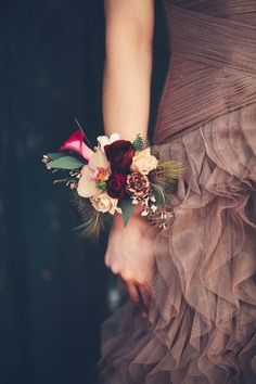 Statement Feathers and Flowers - These Wrist Corsages Will Make You Rethink Bouquets at Your Wedding - Photos