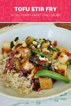 School Lunch | Tofu Stir Fry with Cherry Sweet Chili Sauce